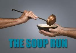 running with soup